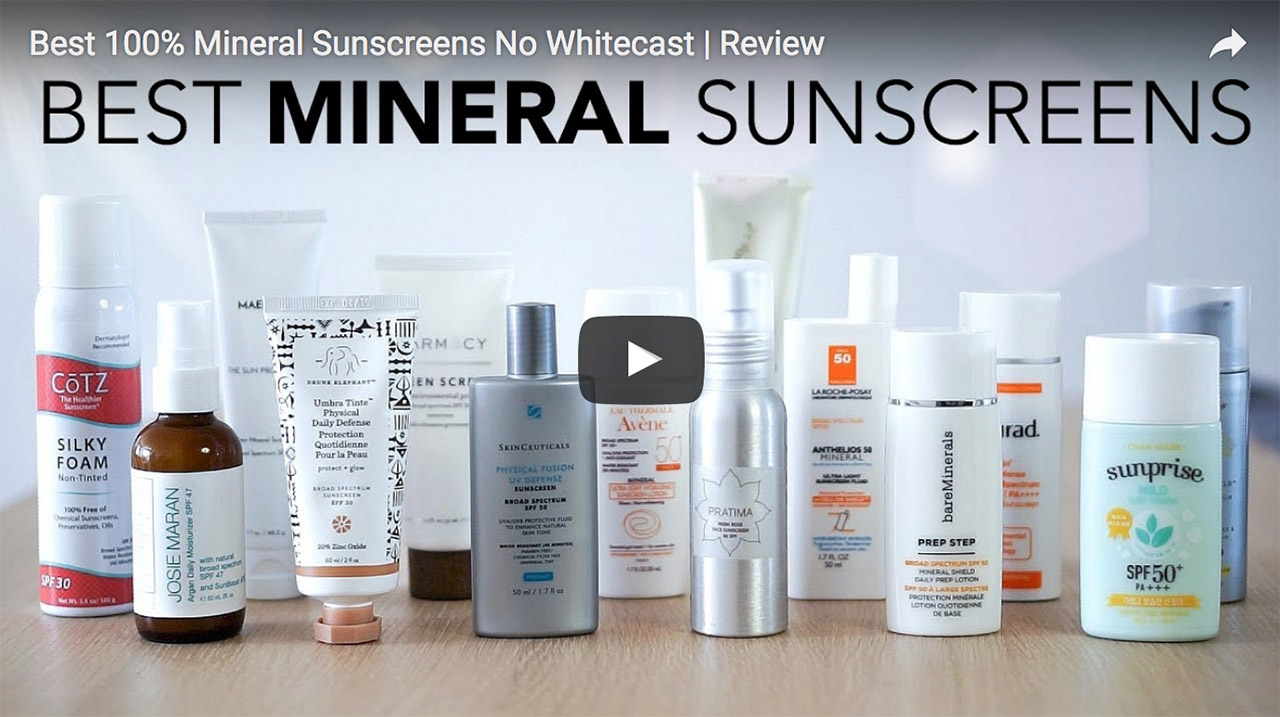 Best 100% Mineral Sunscreens With Minimal To No Cast